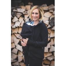 Суитчър за бебеносене от полар Made by Zuz Black Lilly