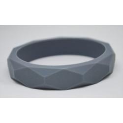 Силиконова гривна гризалка Biberschatz Dim Grey