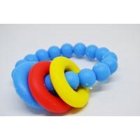 Силиконова гривна гризалка Biberschatz Molto Blu