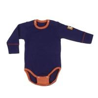 Бебешки мерино комплект от две части в лилаво