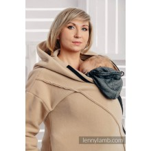Асиметрично Поларено Горнище с Качулка за бебеносене , цвят Лате