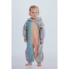 Връхна детска дреха тип 'ромпър' LennyLamb Grey Melange & Big Love Rainbow