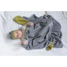 Бебешко одеало от мерино вълна и органичен памук Shushulka
