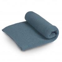 Бебешко одеяло от мериносова вълна 80 х 100см Шушулка - син