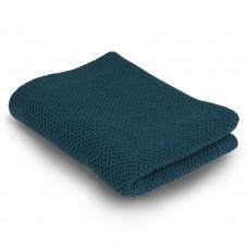 Бебешко одеяло от мериносова вълна 110 х 160см  - цвят петролено