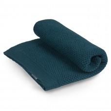 Бебешко одеяло от мериносова вълна 80 х 100см  - петролено