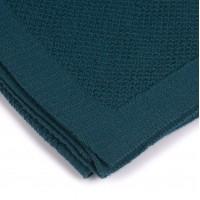 Бебешко одеяло от мериносова вълна 80 х 100см Шушулка - петролено