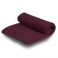 Бебешко одеяло от мериносова вълна 110 х 160см  - малина