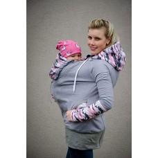 Суитчър за бебеносене от полар MadebyZuz Anthracite