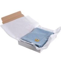 Бебешко одеяло от мериносова вълна 110 х 160см синьо
