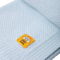 Бебешко одеяло от 100% мериносова вълна 80 х 100см цвят аква