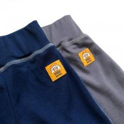Бебешки панталонки в сиво от 100% мерино вълна с наколенки