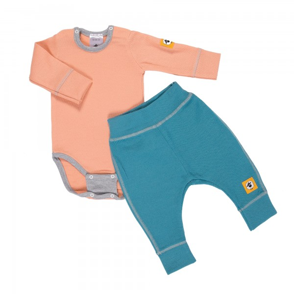 Бебешки комплект от 100% МЕРИНО в розово и синьо