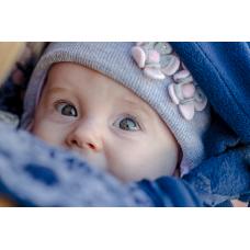 Суитчър за бебеносене от полар Made by Zuz Dark Blue Flowers