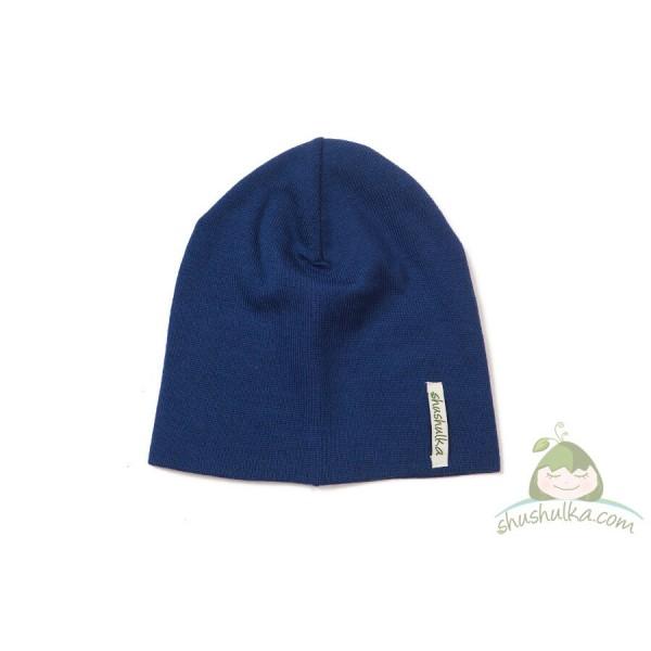 Мерино шапка в синя