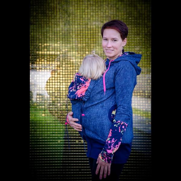 Суитчър за бебеносене от памук Made by Zuz Neon Jeans