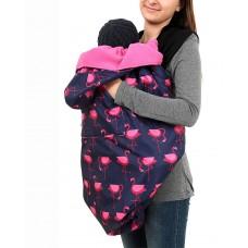 Зимно покривало за бебеносене BundleBean Фламинго