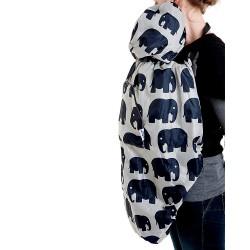 Зимно покривало за бебеносене BundleBean Слончета