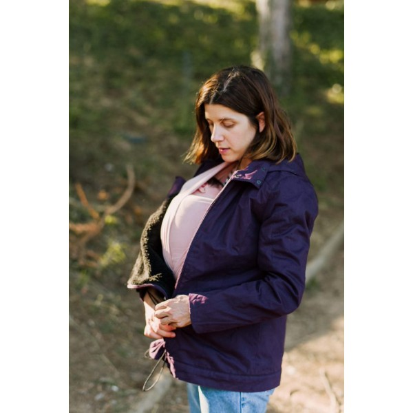 Зимно яке за бременност и бебеносене Momawo 4 в 1 Лилаво