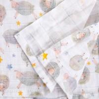 Муселиново одеало от органичен памук Dreamy Sheep