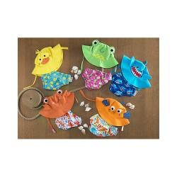 Комплект бебешки бански и шапка Жабата Флипи UPF 50+
