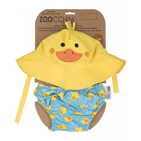 Комплект бебешки бански и шапка Патето Падъл UPF 50+