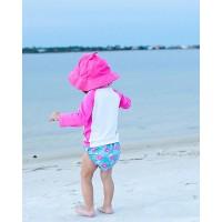 Комплект бебешки бански и шапка Фламингото Франи UPF 50+