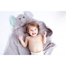 Бебешка хавлия с UV защита Zoocchini Слончето Ели