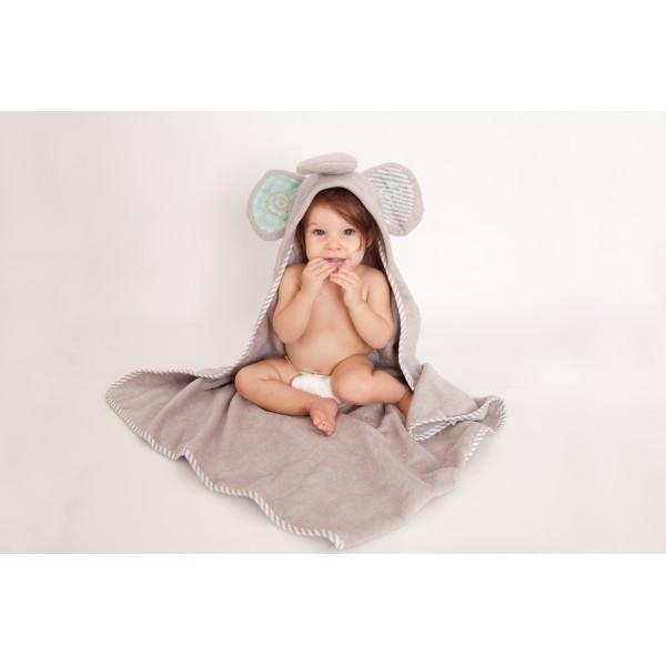 Бебешка хавлия за баня Zoocchini Слончето Ели