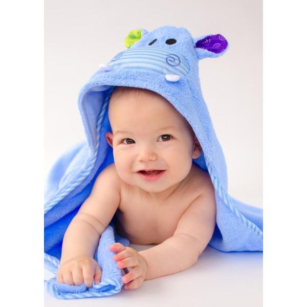Бебешка хавлия с UV защита Zoocchini Хипопотамът Хенри