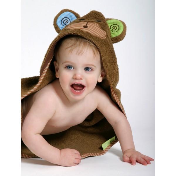 Бебешка хавлия за баня Zoocchini Маймуната Макс