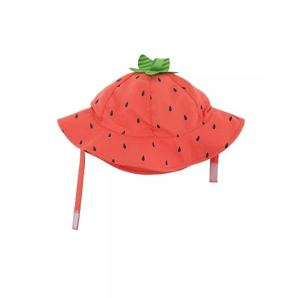 Бебешка шапка със слънцезащита UPF 50+ Ягодка