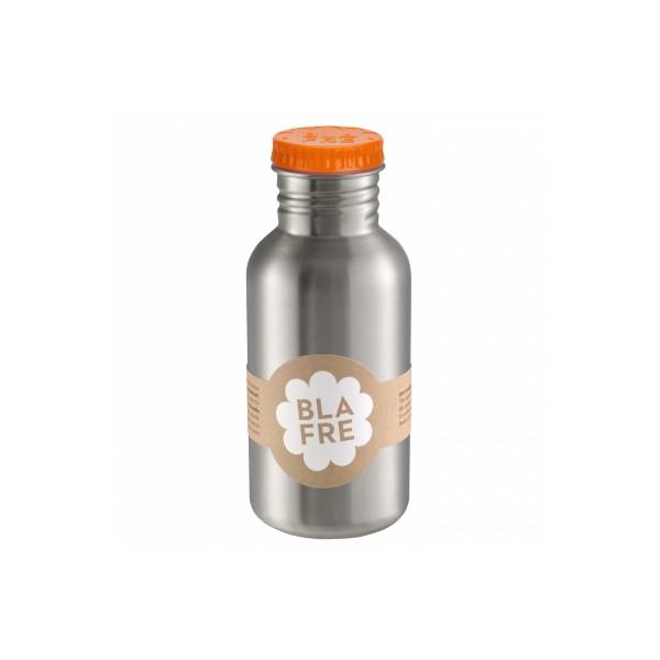 Бутилка за вода от неръждаема стомана Blafre 500мл оранжева